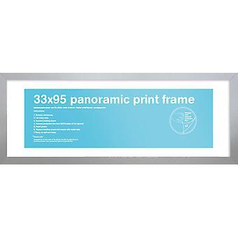 Eton zilveren Frame panoramische Poster / Frame afdrukken