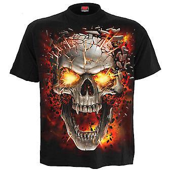 Spiraal-Skull Blast-mens korte mouw t-shirt zwart