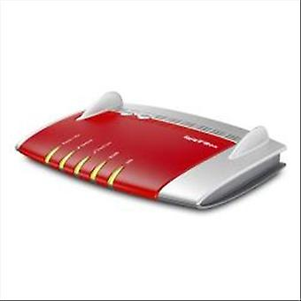 Avm fritzbox 7490 router wireless internazionale 1750 mbps 4 lan rj-45 bianco rosso