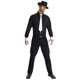 Gangster Mobster 1920s anni '60 60 Mob Al Capone Mafia Camicia Cappello Cravatta Mens Costume