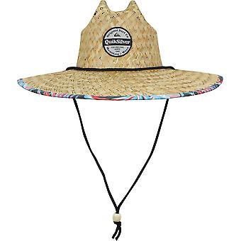 Quiksilver Mens Outsider Wide Brim Straw Sun Hat - Blue Yonder
