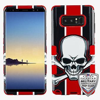 MYBAT UnionJackSkull/Red TUFF Hybrid Phone Protector Cover for Galaxy Note 8