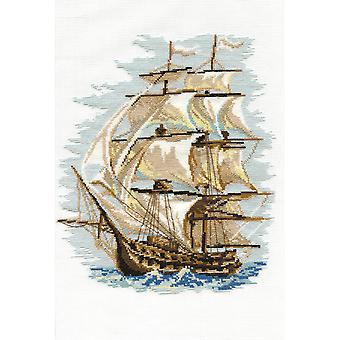 Ship Counted Cross Stitch Kit-11.75