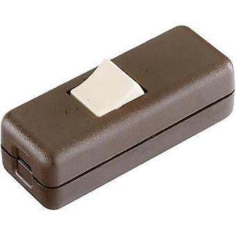 Pull switch Brown, Beige 2 x Off/On 10 A interBär 8010.009.01 1 pc(s)