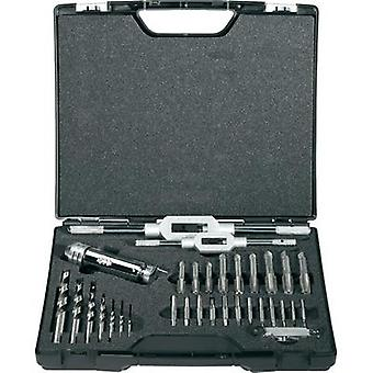 Hand tap set 32-piece metric Right hand cutting Exact 70551 DIN 352 HSS 1 Set