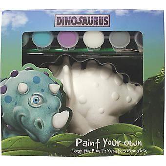 Paint Your Own Dinosaurus-Topsy-Blue DCPY-8