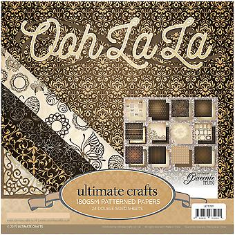 Ultimate Crafts Double-Sided Paper Pad 24/Pkg-Ooh La La, 12 Designs/2 Each UL157611