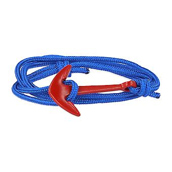 Vikings red-line anchor bracelet with nylon Royal blue anchor in red