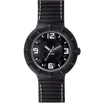 Hip hop watch silicone watch of leather large HWU0211 nero