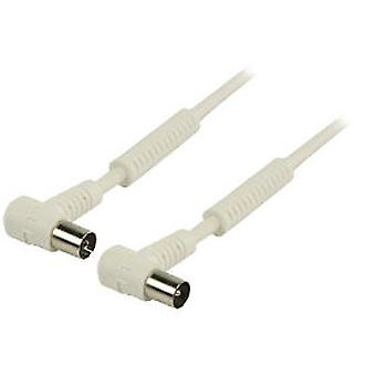 Valueline Coaxial Antenna Cable Db 120 male and female Angled 1m White