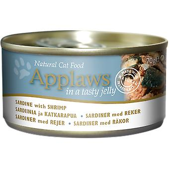 Applaws Cat Tin Sardine With Shrimp In Jelly 70g (Pack of 24)