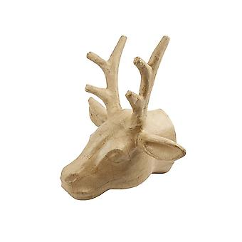 300mm Giant Paper Mache Reindeer or Stag Head to Decorate for Christmas