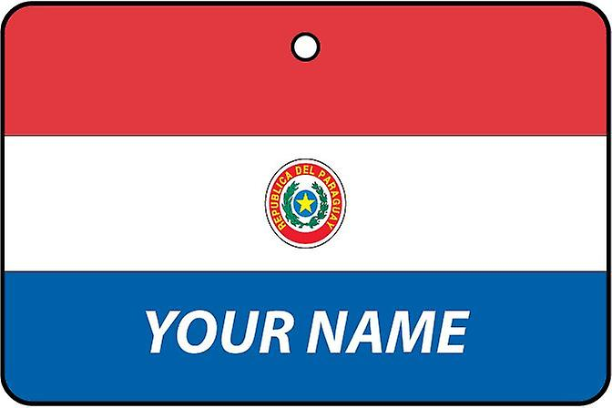 Paraguay Flag Personalised Car Air Freshener