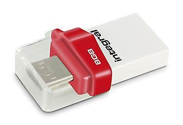 Integral 8GB Micro Fusion USB 3.0 OTG Flash Drive. W/110MB/s.R/5MBs. - INFD8GBMIC3.0-OTG