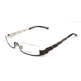 Boucheron Unisex Skinny Rectangular Eyeglasses Brown/Multi