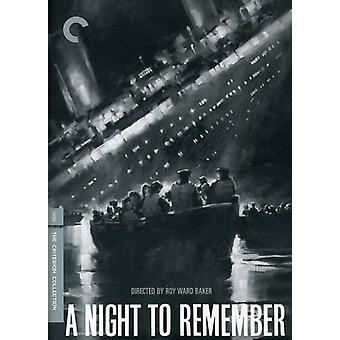 Night to Remember [DVD] USA import