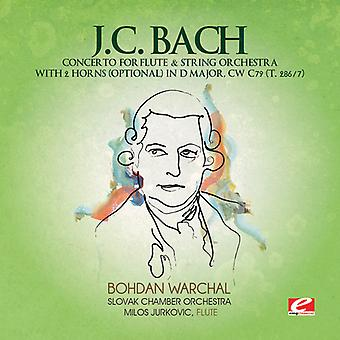 J. c. バッハ - j. c. バッハ: 協奏曲フルート ・弦楽オーケストラ 2 角ニ長調で、Cw C79 (T.286/7) [CD] アメリカ インポートします。