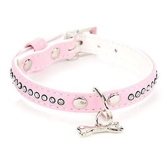 Freedog Bright pink leatherette necklace 1,3x25cm (Dogs , Walking Accessories , Collars)