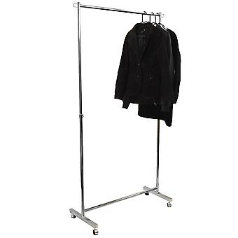 Guise - Heavy Duty 50kg Garment Hanging Rail / Open Wardrobe - Silver