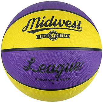 Midwest Basketball jaune & mauve taille 6