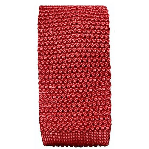 KJ Beckett Silk Knitted Tie - Mauve