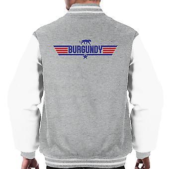 Top Gun Logo Ron Burgundy Anchorman Men's Varsity Jacket