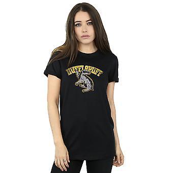 Harry Potter kvinders Hufflepuff Sport Emblem kæreste Fit T-Shirt