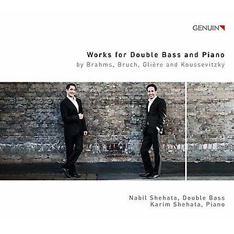 Brahms / Bruch / Koussevitzky / Shehata - arbejder for kontrabas & Piano [CD] USA import