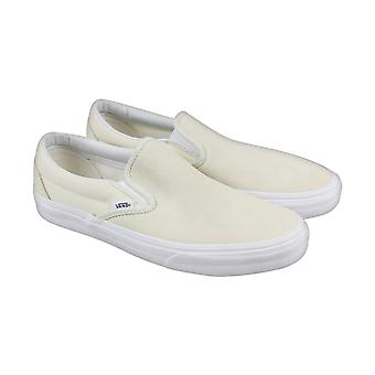 Vans Classic Slip On Mens Beige Suede Slip On Slip On Sneakers Shoes