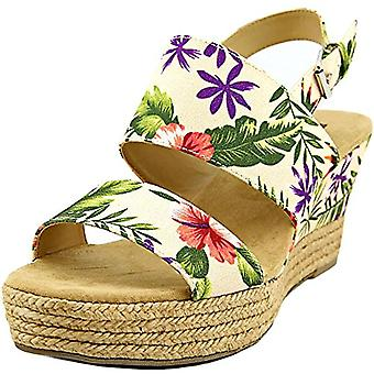 White Mountain Womens Bar Harbor Fabric Open Toe Casual Platform Sandals US