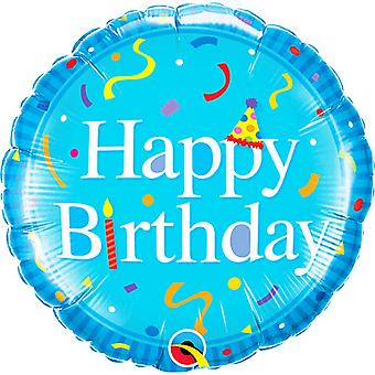 Qualatex 18 Inch Happy Birthday Round Foil Balloon