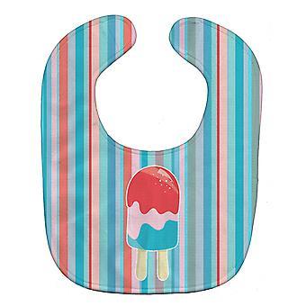 Carolines schatten BB7062BIB Ice Pop Popsicle rood roze blauw Baby slabbetje