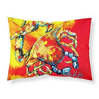 Carolines Treasures  MW1086PILLOWCASE Crab Hot Dang Moisture wicking Fabric stan