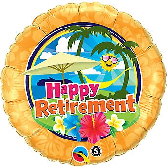 Qualatex 18 Inch Round Happy Retirement Holiday Design Foil Balloon