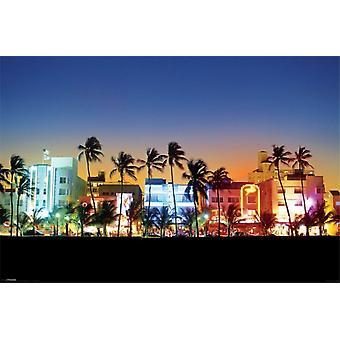 Ocean Drive Miami Poster Poster Print
