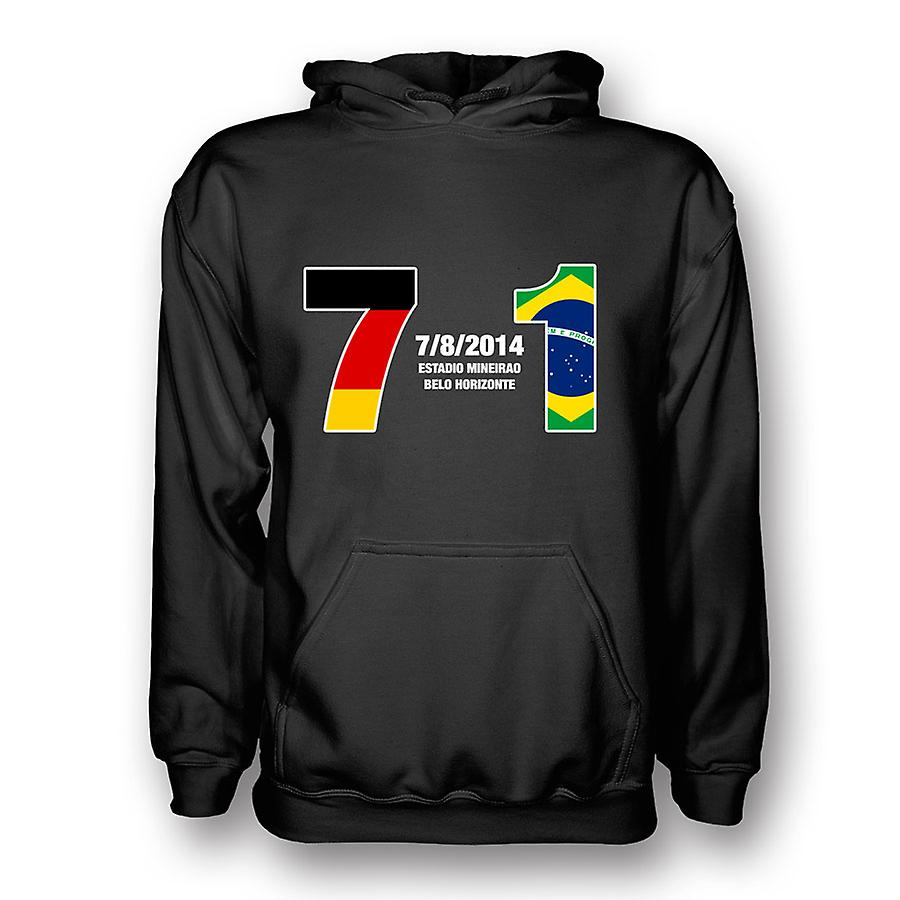 Germany 7 Brazil 1 Hoody (black) - Kids