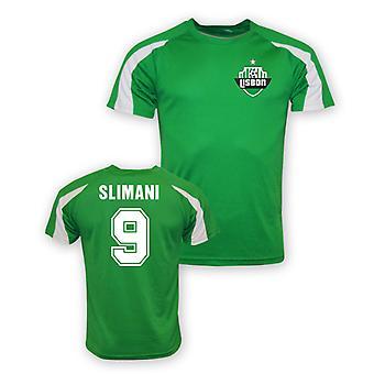 Islam Slimani Sporting Lizbona sporty szkolenia Jersey (zielony)