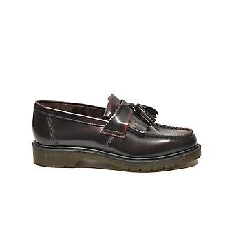 Dr. Martens men's ADRIAN Burgundy leather moccasins