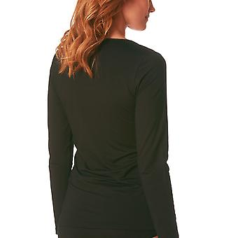 Mey 26481-3 Women's Balance Black Solid Colour Long Sleeve Top