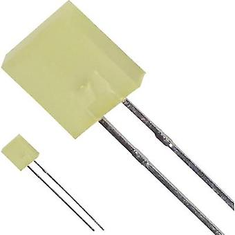 LED wired Yellow Rectangular 7 x 2.3 mm 4 mcd