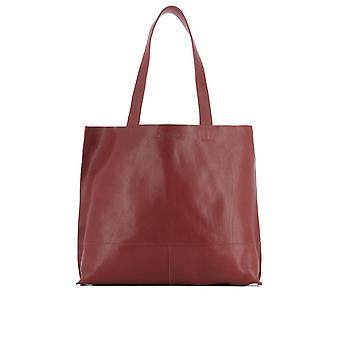 Il Bisonte ladies A2060P245 Burgundy leather tote