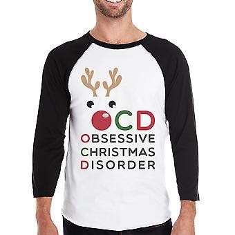 Rudolph OCD Mens Raglan Shirt