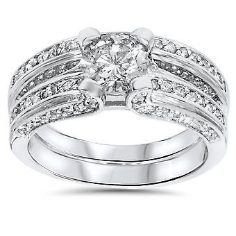 2 1 / 4ct diamant vigselring ställa 14K
