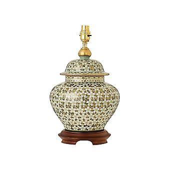 Interiors 1900 Kutani Daisies Single Light Ceramic Table Lamp Ba