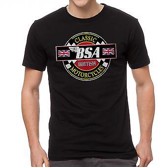 BSA klassiske motorcykler mænds sort T-shirt