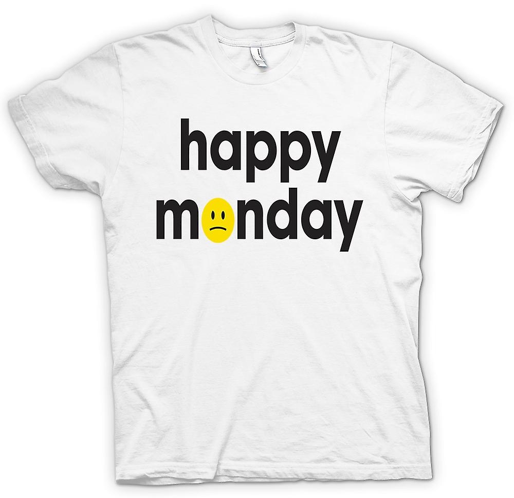 Womens T-shirt-glad måndag - Smiley Face - citat