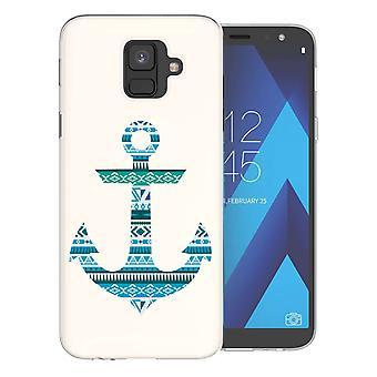 Samsung A6 (2018) Azteekse blauwe anker TPU Gel geval