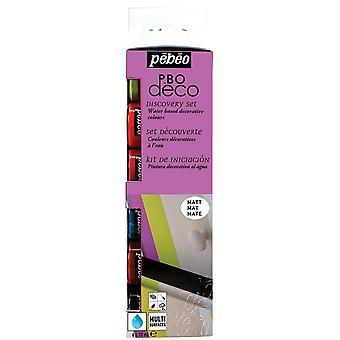 Découverte de peinture acrylique PEBEO Deco Set mat 6 x 20ml