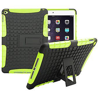 Hybrid Outdoor Schutzhülle Case Grün für Apple iPad Air 2 Tasche
