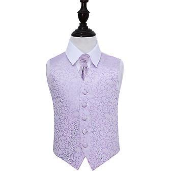 Lila Swirl Hochzeit Weste & Krawatte Set für jungen